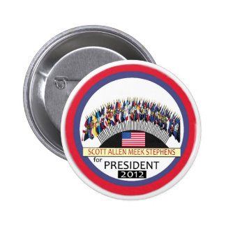 Scott Allen Stephens manso para el presidente 2012 Pin Redondo De 2 Pulgadas