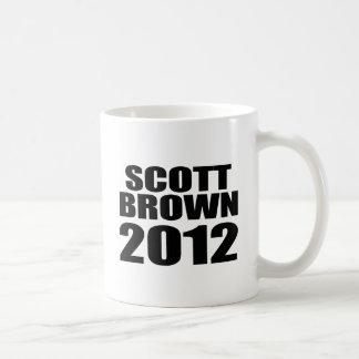 Scott Brown 2012 Taza Básica Blanca