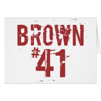 Scott BROWN #41 Greeting Card