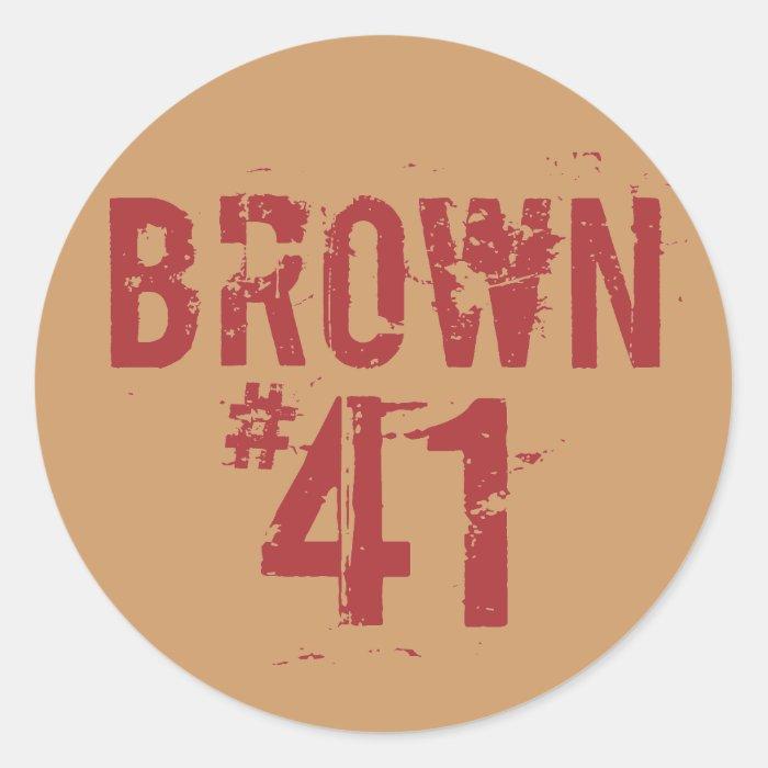 Scott BROWN #41 Classic Round Sticker