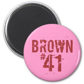 Scott BROWN #41 Imán Redondo 5 Cm