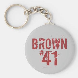 Scott BROWN #41 Llavero Personalizado