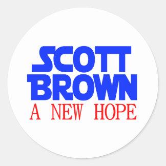 Scott Brown A New Hope Classic Round Sticker