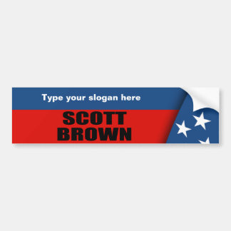 SCOTT BROWN BUMPER STICKER