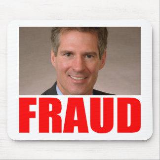 Scott Brown = FRAUD Mouse Pad