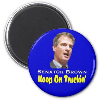 Scott  Brown:  Keep On Truckin' 2 Inch Round Magnet