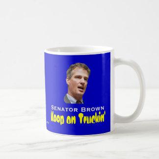 Scott Brown: Keep on Truckin' Classic White Coffee Mug