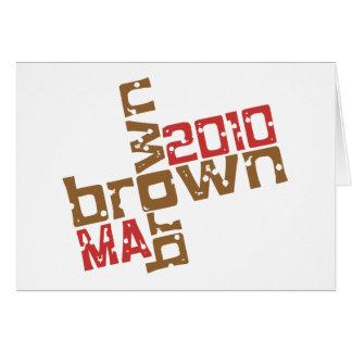 Scott Brown - MA 2010 Greeting Card