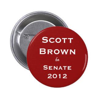 Scott Brown para el botón del senado Pin
