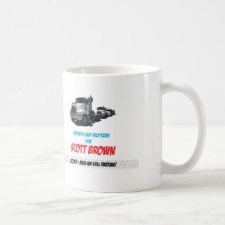 Scott Brown para los camioneros Taza Básica Blanca