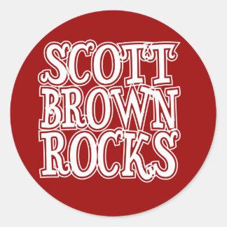 Scott Brown Rocks Classic Round Sticker