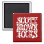 Scott Brown Rocks Refrigerator Magnets