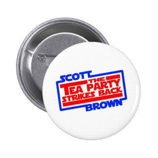 Scott Brown una nueva esperanza Pin Redondo 5 Cm