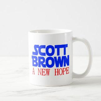Scott Brown una nueva esperanza Taza Básica Blanca