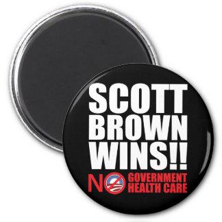 Scott Brown Wins! 2 Inch Round Magnet