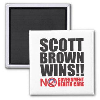 Scott Brown Wins! 2 Inch Square Magnet
