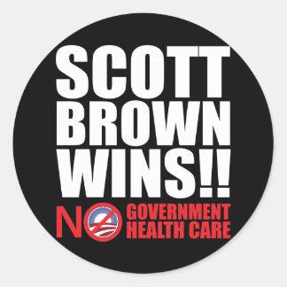 Scott Brown Wins! Classic Round Sticker