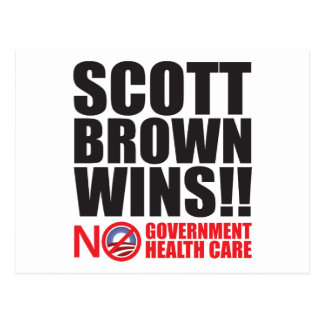 Scott Brown Wins! Postcard