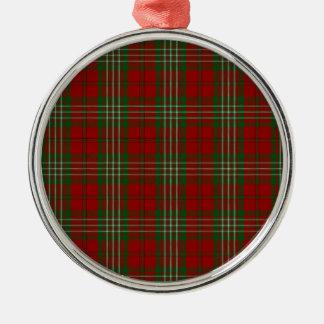 Scott Clan Family Tartan Metal Ornament