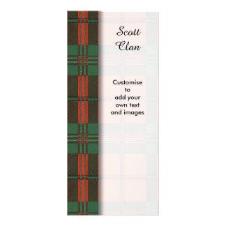 Scott clan Plaid Scottish tartan Rack Card
