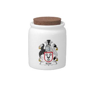 Scott Family Crest Candy Jars