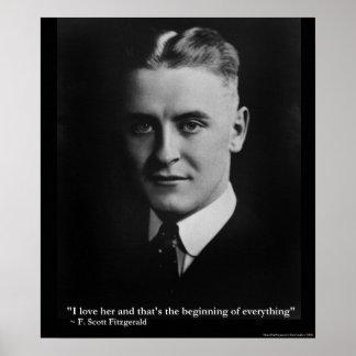 "Scott Fitzgerald ""Love/Beginning"" Canvas Print"