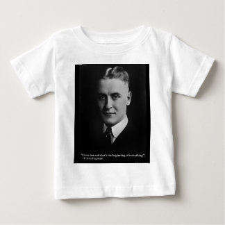 "Scott Fitzgerald ""Love/Beginning"" Quote Gifts Etc Baby T-Shirt"