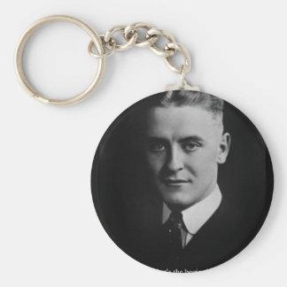 """Scott Fitzgerald """"Love/Beginning"""" Quote Gifts Etc Keychain"""