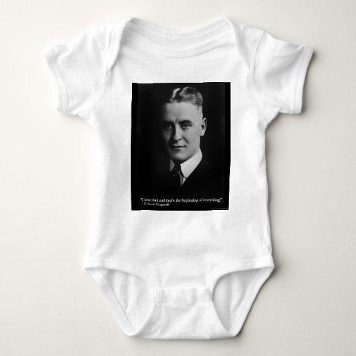 "Scott Fitzgerald ""Love/Beginning"" Quote Gifts Etc Tee Shirts"