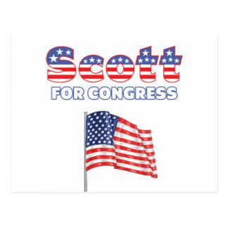Scott for Congress Patriotic American Flag Postcard