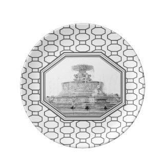 Scott Fountain | Belle Isle | Detroit, Michigan Dinner Plate