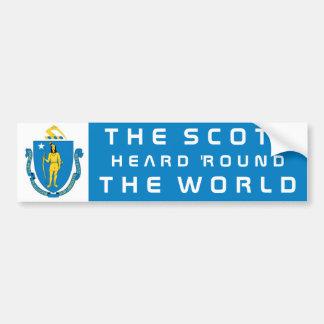 Scott Heard 'Round the World Bumper Sticker