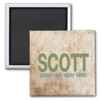 { Scott } Name Meaning Refrigerator Magnet
