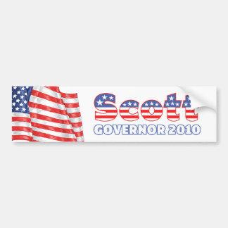Scott Patriotic American Flag 2010 Elections Bumper Sticker