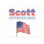 Scott Patriotic American Flag 2010 Elections Postcard