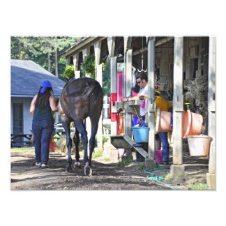 Scott Schwartz at his Saratoga Stables Photo Print