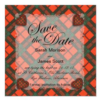 Scott Scottish clan tartan - Plaid Invitation