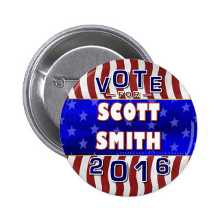 Scott Smith President 2016 Election Independent Pinback Button