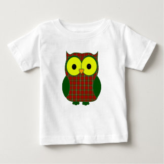 Scott Tartan Plaid Owl Baby T-Shirt