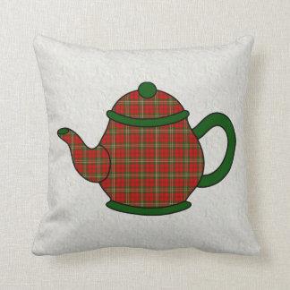 Scott Tartan Plaid Teapot Pillow