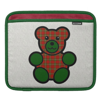Scott Tartan Plaid Teddy Bear iPad Sleeve