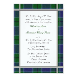 Scott Tartan Plaid Wedding Invitation