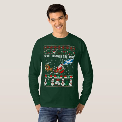 Scott Through The Snow Ugly Christmas Sweater After Christmas Sales 2339
