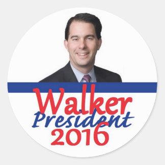 Scott WALKER 2016 Classic Round Sticker