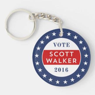 Scott Walker 2016 Double-Sided Round Acrylic Keychain