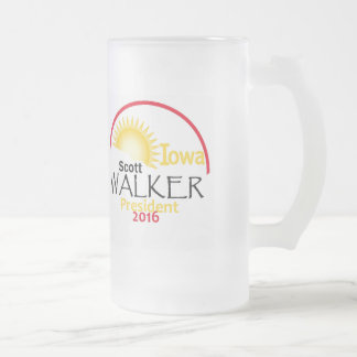 Scott WALKER 2016 Frosted Glass Beer Mug