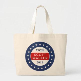 Scott Walker 2016 Large Tote Bag