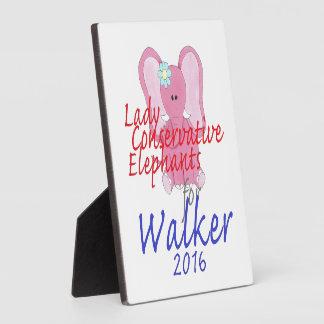 Scott WALKER 2016 Plaque