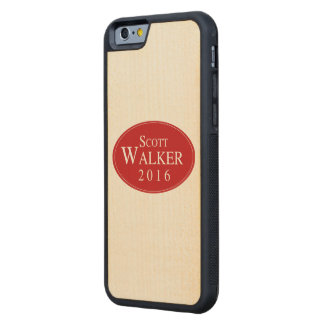 Scott Walker 2016 Red Oval Campaign Carved® Maple iPhone 6 Bumper Case