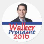 Scott WALKER 2016 Round Sticker